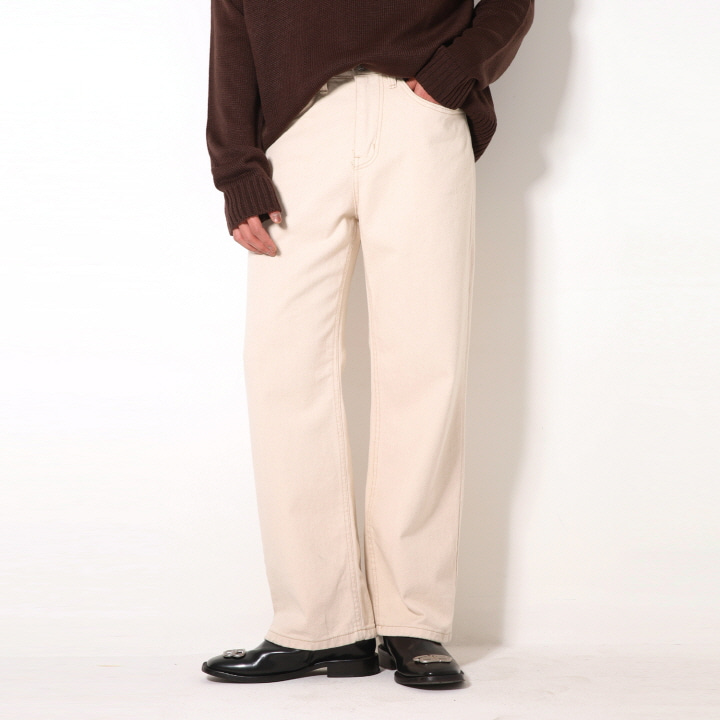 XP49 CREAM WIDE PANTS (CREAM)