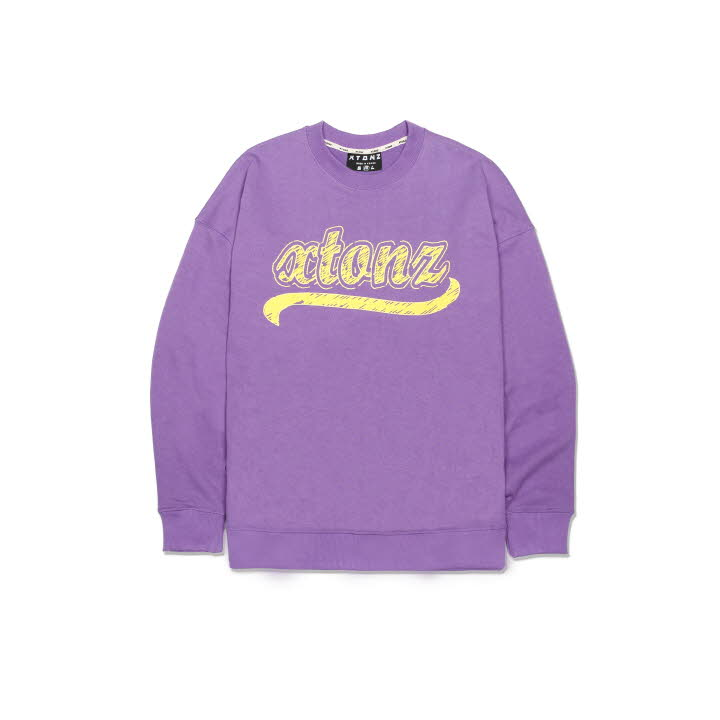 XTM010 SKETCH SWEAT SHIRT (PURPLE)