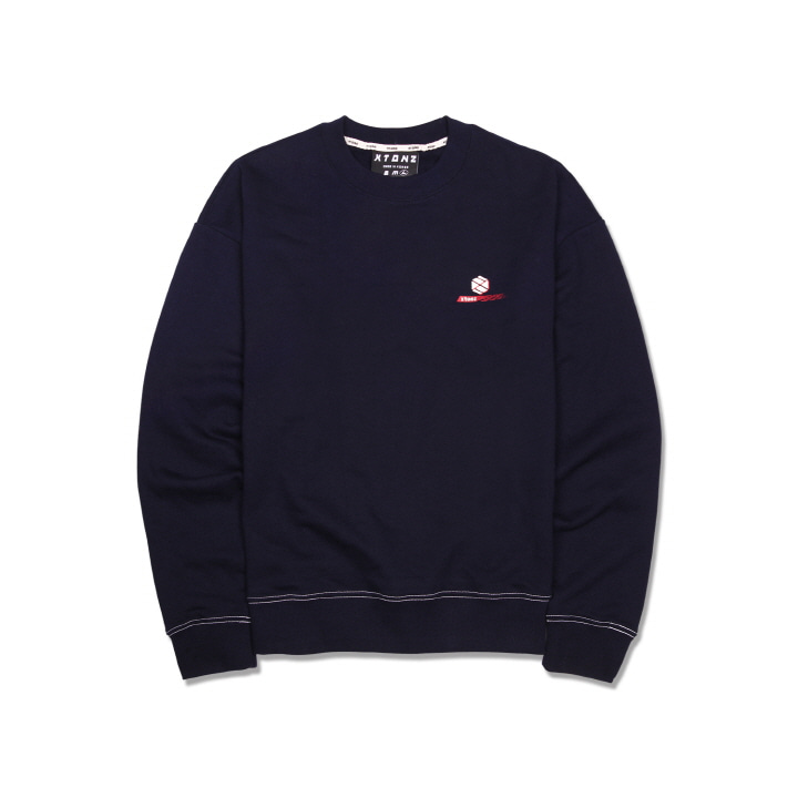 XTM011 OVERLAP LOGO MAN TO MAN (NAVY)